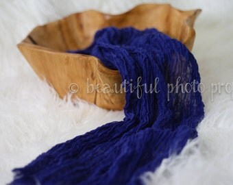 Royal Blue Cheesecloth Baby Wrap Cheese Cloth Newborn Photography