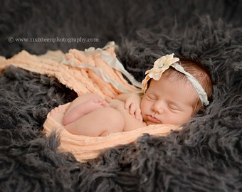 Peach Cheesecloth Baby Wrap Cheese Cloth Newborn Photography Prop