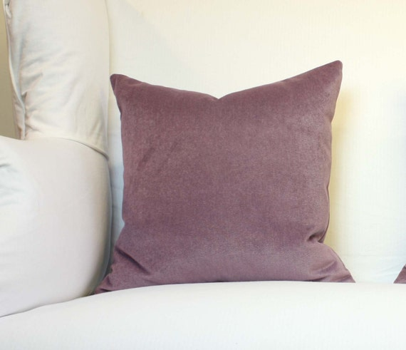 Lilac Velvet Pillow Decorative Pillow Cover 20 by studiotullia