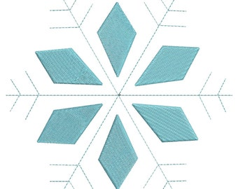 Snowflake Embroidery Designs Machine Christmas Patterns - Winter Embroidery - Holiday Embroidery Designs - 3 Sizes - Instant Download
