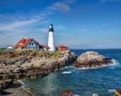 Portland Head Light, Portland Maine, Fine Art Photography, Lighthouse Art, Lighthouse Decor, Maine Art