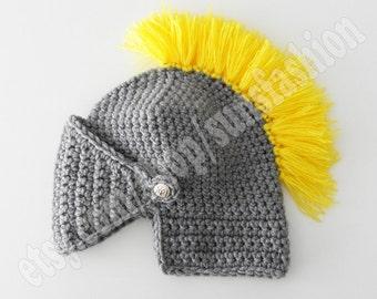 Knight Helmet Hat Skull Caps Crochet Slouch Mens Convertible kids gift Winter Hats Accessories hat for men