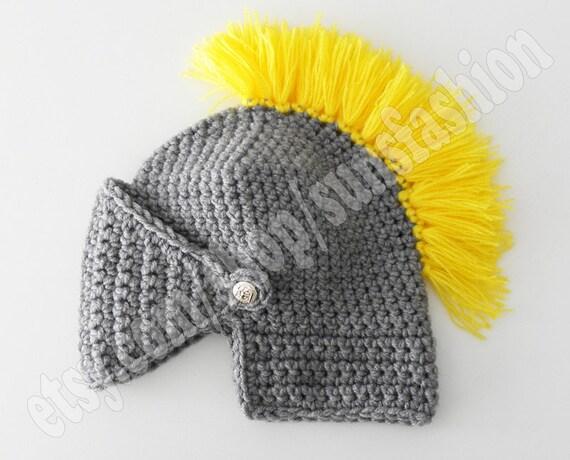 Crochet Knight Helmet : Knight Helmet Hat Skull Caps Crochet Slouch Mens Convertible kids gift ...