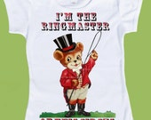 Ringmaster Circus Shirt, Circus Birthday T-Shirt, Family Circus Shirts, Vintage Circus Theme One Piece Baby,T-Shirt by ChiTownBoutique.etsy