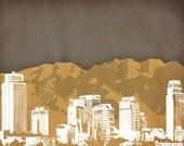 Salt Lake City Utah Print
