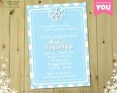 WINTER WONDERLAND Invitation - DIY Printable Snow Themed Invite // Snowflake Ball // Sledding Party // Holiday Party // Christmas Card