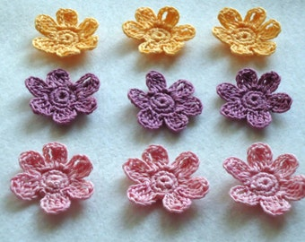 Crocheted Flower Appliques