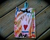 Make Art, Recycled wool and t-shirt scraps Potholder, Random Works of Art,