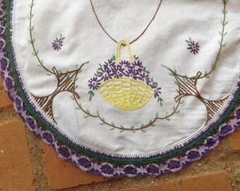 Dresser Vanity Set 3 Piece  Hand Embroidered
