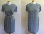 Retro Flower Print Dress and Jacket - Medium/Large