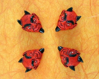 Large Devil Head Beads