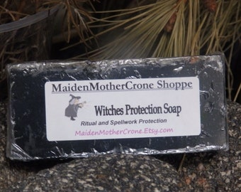 Witches Charcoal Soap Jabon Wicca Pagan Spirituality Religion Ceremonies Hoodoo Metaphysical MaidenMotherCrone