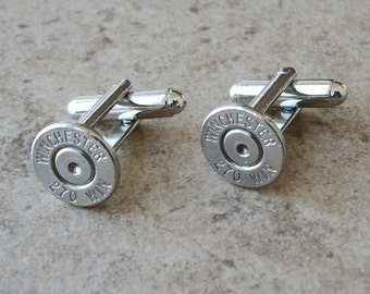 Bullet Cufflinks, Winchester 270 Win Cufflinks, Wedding Cufflinks, Great Gift item - 391