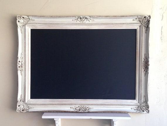 Large Wedding Chalkboard Framed Chalkboard Vintage White Chalk