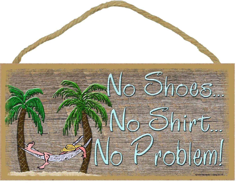 No shoes no shirt no problem beach bum in hammock wall decor zoom amipublicfo Gallery