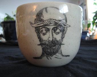 Mustachioed man mug
