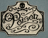 Apothecary Poison on Cowhide Leather Iron on Patch