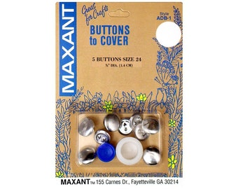 Buttons to Cover Maxant Size 24 Kit Half Ball Mold Pusher 5/8""