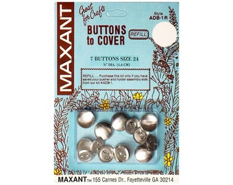 Buttons to Cover Maxant Size 24 Refill Half Ball 5/8""