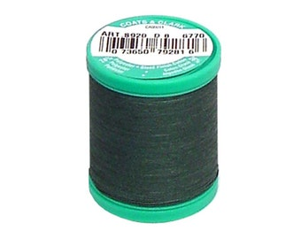 Button Carpet Thread  Coats and Clark C&C Dual Duty Forest Green Heavy Duty Plus Strong
