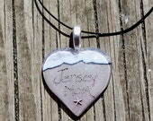 Jersey Mom Heart Starfish Necklace Beach Pendant Ocean Wave Mother Momma I Love Mom