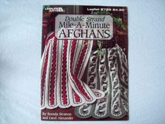 Crochet Double Strand Baby Blanket Pattern : Double Strand Mile A Minute Afghans Crocheted by ...