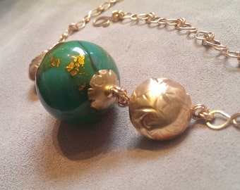 Necklace with Vintage Venetian Glass Bead