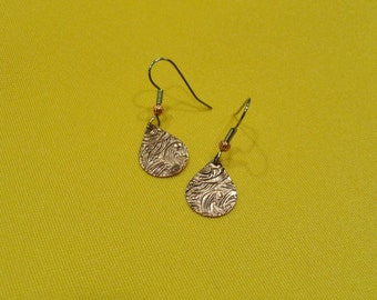 Cry me a river copper teardrop earrings (Style #484)