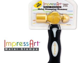 Brass Hammer - Hand Stamping Hammer- 1 1lb - must for hand stamping easy to use