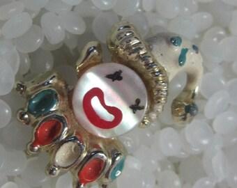 vintage pin, brooch, sweet circus clown