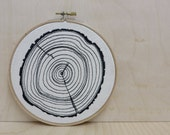 Tree Rings . Embroidery Hoop Art
