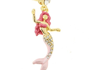 Pink Mermaid Lapel Pin 1003272