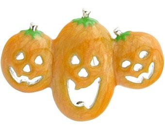 Halloween Enamel Yellow Pumpkin Brooch Pin 1001044
