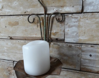 Vintage Shabby Chic Candle Holder Decor