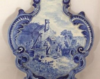 Old, large Delft plaque