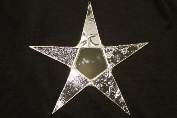Pattern Points- 9.5 inch clear architectural glass star