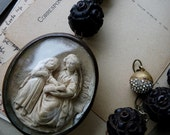 Antique French Meerschaum Necklace, Saint Anne & Child Mary, A Relic for the Passionate, by RusticGypsyCreations