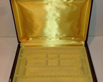 Vintage Brown Buxton Jewelry Box