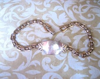 Vintage Gold Tone Identification Bracelet