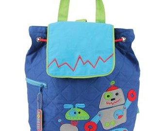 Robot Backpack By Stephen Joseph Personalized SALE