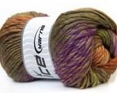 Donna ice yarn, Self striping knitting wool, 100g, multi-colour, winter yarn