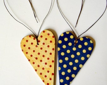 Decorative Wooden Hearts / Wooden Hearts/ Wedding Decor/Gift tags/ Party Decor