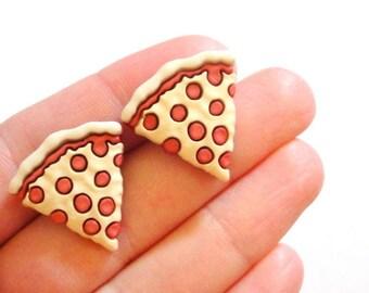 Pizza Stud Earrings