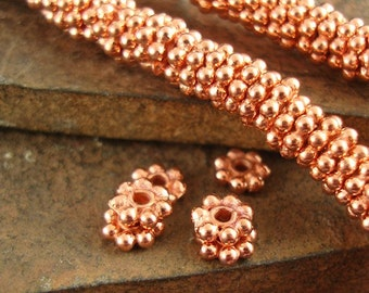 Solid Copper Bali Style Heishi Daisy Spacer Beads, Lead Free, 5mm - 1 Strand