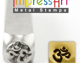 Om  Metal Stamp ImpressArt- 6  mm  Design Stamp-Perfect for Your Hand Stamping Needs-Steel Stamps