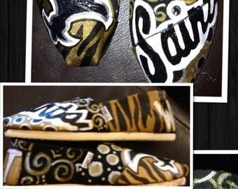 Custom Painted New Orleans Saints Toms