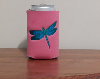 Beautiful dragonfly can cooler
