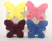 4 Butterfly Soaps - party favor, spring, summer, insect, mariposa, papillon, guest soap, gift soap, bathroom decor, soap for girls