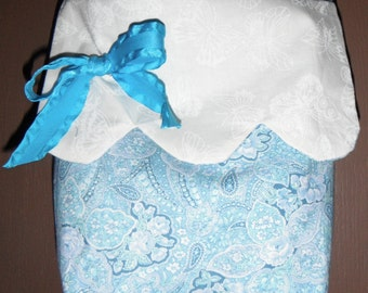 BLUE and WHITE PAISLEY purse