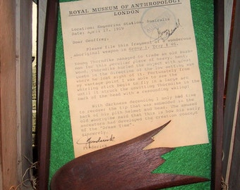 """The Royal Museum of Anthropology Collection: """"Australian Boomerang"""""""